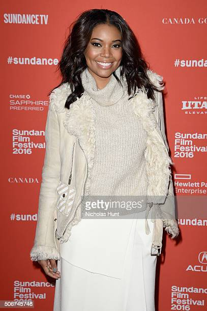 Actress Gabrielle Union attends 'The Birth Of A Nation' premiere during the 2016 Sundance Film Festival at Eccles Center Theatre on January 25 2016...