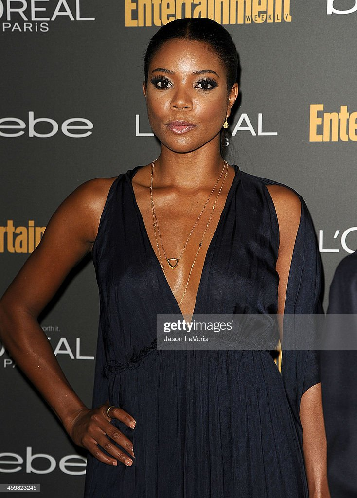 Actress <a gi-track='captionPersonalityLinkClicked' href=/galleries/search?phrase=Gabrielle+Union&family=editorial&specificpeople=202066 ng-click='$event.stopPropagation()'>Gabrielle Union</a> attends the Entertainment Weekly pre-Emmy party at Fig & Olive Melrose Place on September 20, 2013 in West Hollywood, California.