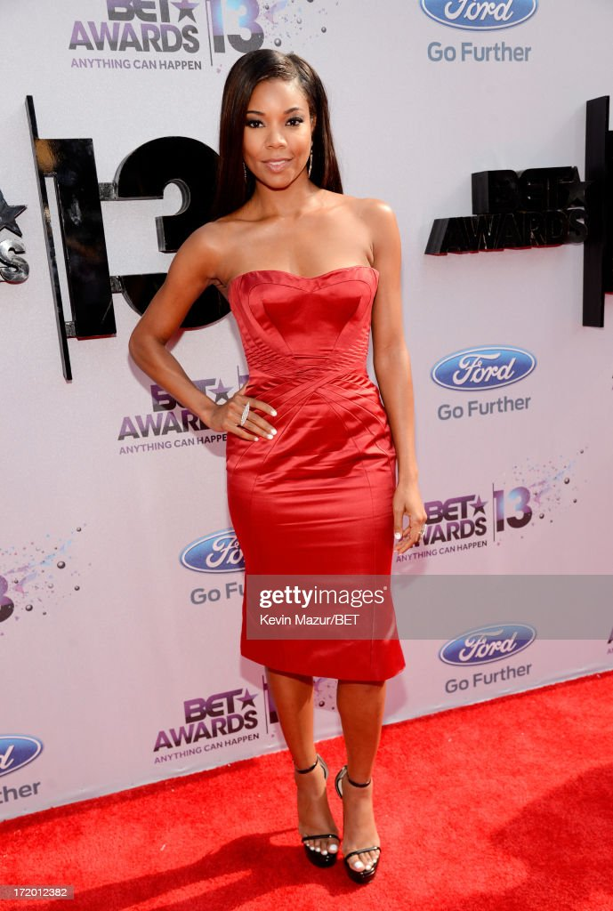 Actress <a gi-track='captionPersonalityLinkClicked' href=/galleries/search?phrase=Gabrielle+Union&family=editorial&specificpeople=202066 ng-click='$event.stopPropagation()'>Gabrielle Union</a> attends the Ford Red Carpet at the 2013 BET Awards at Nokia Theatre L.A. Live on June 30, 2013 in Los Angeles, California.