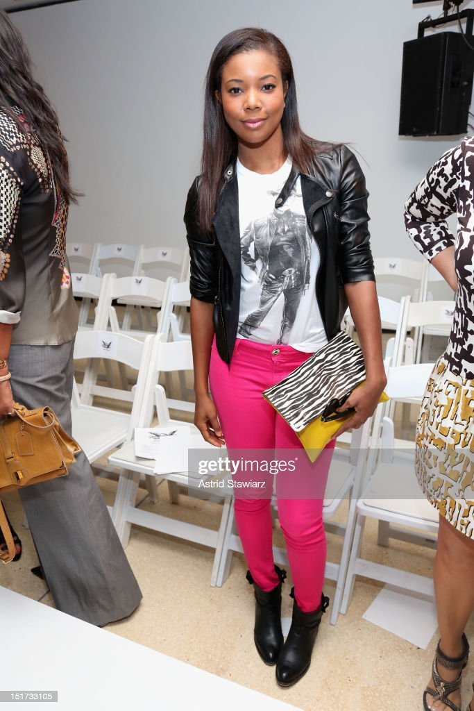 Actress Gabrielle Union attends the Mark McNairy New Amsterdam Spring 2013 fashion show during MercedesBenz Fashion Week at New York Public Library...