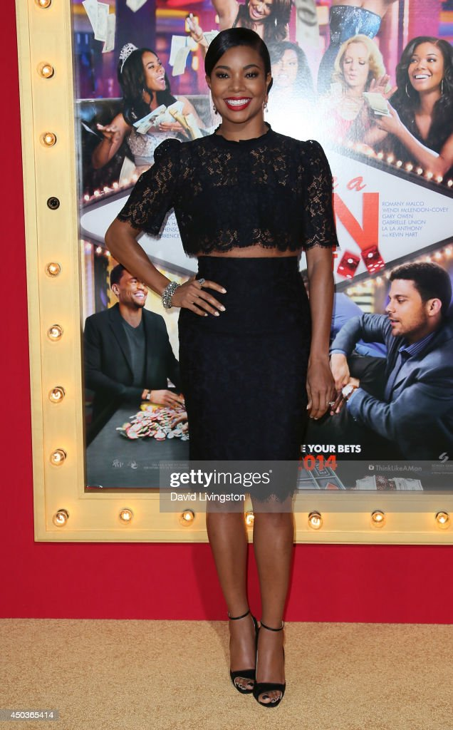 Actress <a gi-track='captionPersonalityLinkClicked' href=/galleries/search?phrase=Gabrielle+Union&family=editorial&specificpeople=202066 ng-click='$event.stopPropagation()'>Gabrielle Union</a> attends the premiere of Screen Gems' 'Think Like a Man Too' at the TCL Chinese Theatre on June 9, 2014 in Hollywood, California.