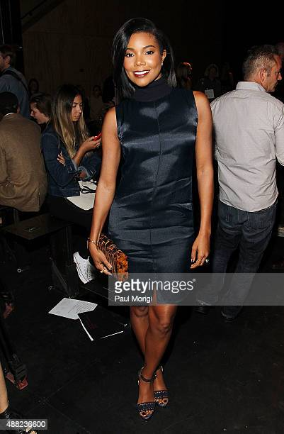Actress Gabrielle Union attends the rag bone Spring 2016 fashion show during New York Fashion Week at St Ann's Warehouse on September 14 2015 in New...