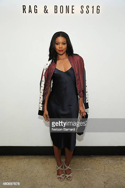 Actress Gabrielle Union attends the rag bone SS16 Menswear Event at Highline Stages on July 14 2015 in New York City
