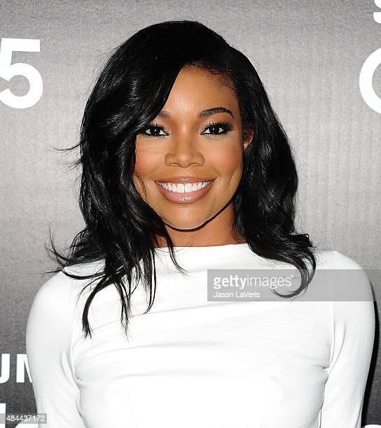 Actress Gabrielle Union attends the Samsung launch party on August 18 2015 in West Hollywood California