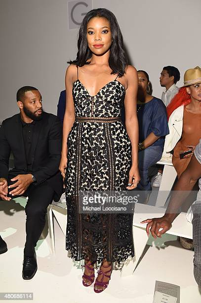 Actress Gabrielle Union attends the Todd Snyder fashion show during New York Fashion Week Men's S/S 2016 at Skylight Clarkson Sq on July 14 2015 in...