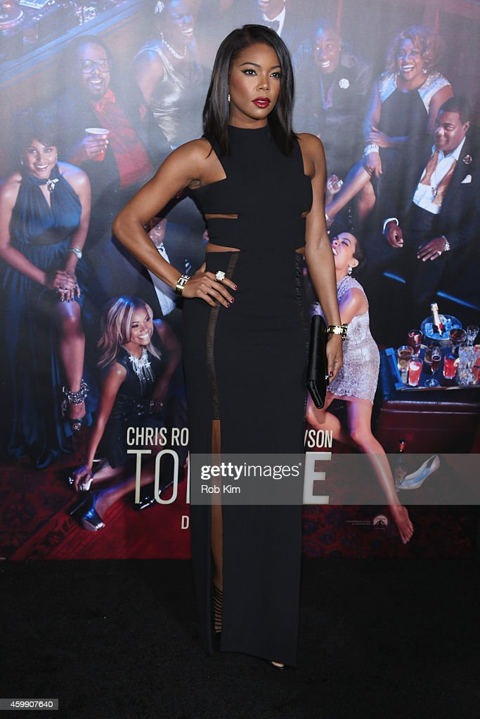 Actress Gabrielle Union attends the 'Top Five' New York Premiere at Ziegfeld Theater on December 3 2014 in New York City