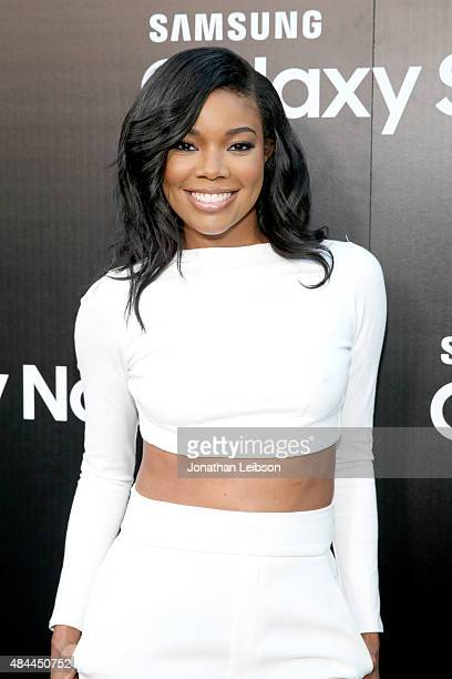 Actress Gabrielle Union celebrates the new Samsung Galaxy S6 edge and Galaxy Note5 at Launch Event on August 18 2015 in Los Angeles California