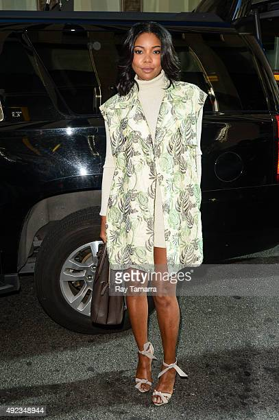 Actress Gabrielle Union enters the Sirius XM Studios on October 12 2015 in New York City