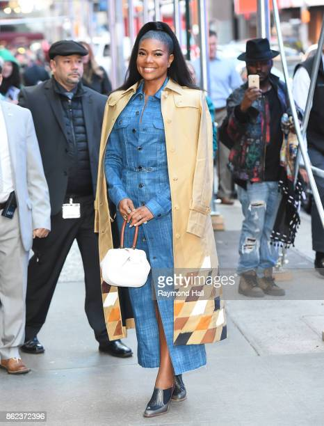 Actress Gabrielle Union is seen outside 'Good Morning America' on October 17 2017 in New York City