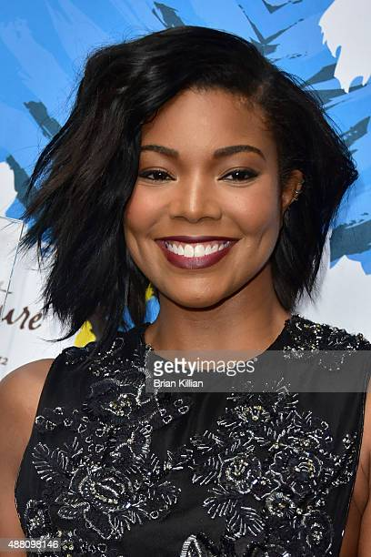 Actress Gabrielle Union poses backstage during the 2015 Essence Street Style Block Party on September 13 2015 in New York City