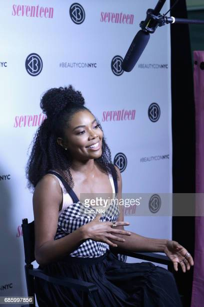 Actress Gabrielle Union poses for a photo during Beautycon Festival NYC 2017 at Brooklyn Cruise Terminal on May 20 2017 in New York City
