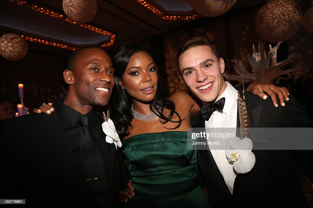 Actress <a gi-track='captionPersonalityLinkClicked' href=/galleries/search?phrase=Gabrielle+Union&family=editorial&specificpeople=202066 ng-click='$event.stopPropagation()'>Gabrielle Union</a> (C) poses with Alvin Ailey's Samuel Lee Roberts (L) and Michael Francis McBride during the 2013 Alvin Ailey American Dance Theater's opening night benefit gala at New York City Center on December 4, 2013 in New York City.