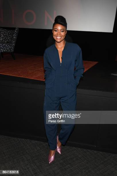 Actress Gabrielle Union promotes her latest book 'We're Going to Need More Wine Stories That Are Funny Complicated and True' during Gabrielle Union's...