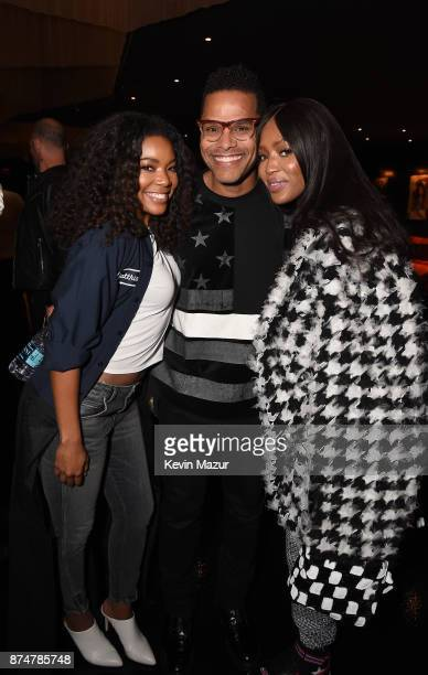 Actress Gabrielle Union recording artist Maxwell and supermodel Naomi Campbell attend Janet Jackson Barclays After Party at Barclays Center on...
