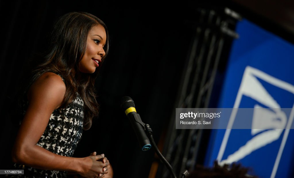 Actress Gabrielle Union speaks during the unveiling of the 1963 March on Washington stamp on August 23, 2013 in Washington, United States.
