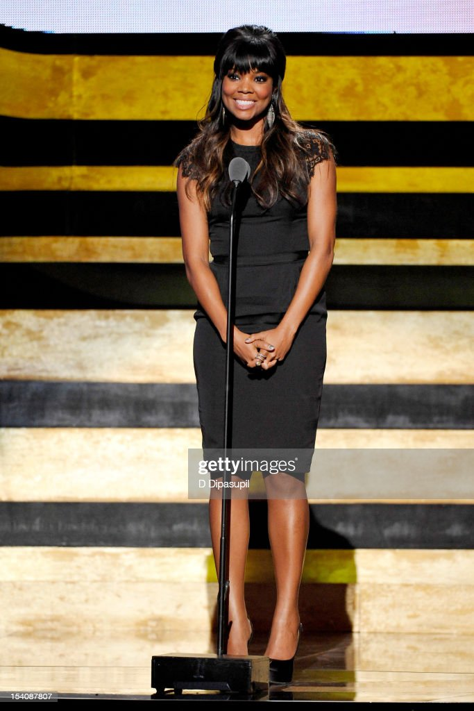 Actress <a gi-track='captionPersonalityLinkClicked' href=/galleries/search?phrase=Gabrielle+Union&family=editorial&specificpeople=202066 ng-click='$event.stopPropagation()'>Gabrielle Union</a> speaks onstage at BET's Black Girls Rock 2012 at Paradise Theater on October 13, 2012 in New York City.