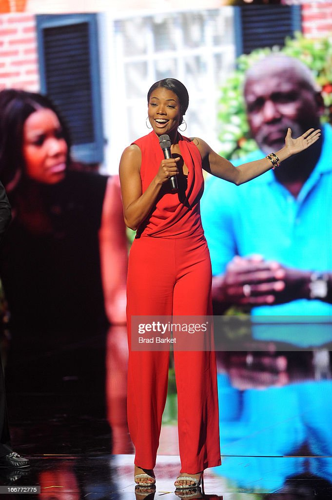 Actress <a gi-track='captionPersonalityLinkClicked' href=/galleries/search?phrase=Gabrielle+Union&family=editorial&specificpeople=202066 ng-click='$event.stopPropagation()'>Gabrielle Union</a> speaks onstage at the BET Networks 2013 New York Upfront on April 16, 2013 in New York City.