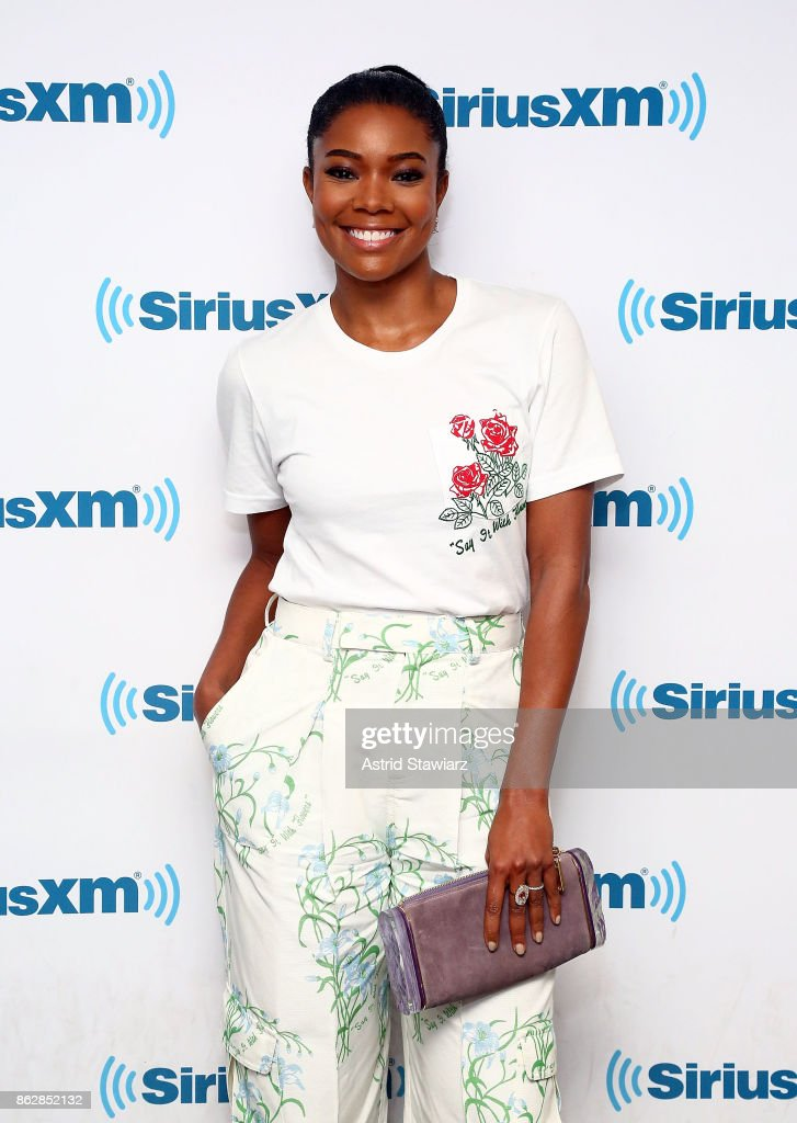 Actress Gabrielle Union visits the SiriusXM Studios on October 18, 2017 in New York City.