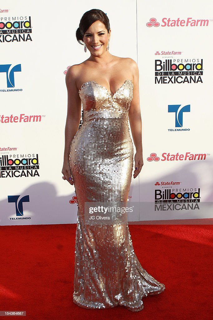 Actress Gaby Espino attends the 2012 Billboard Mexican Music Awards at The Shrine Auditorium on October 18, 2012 in Los Angeles, California.
