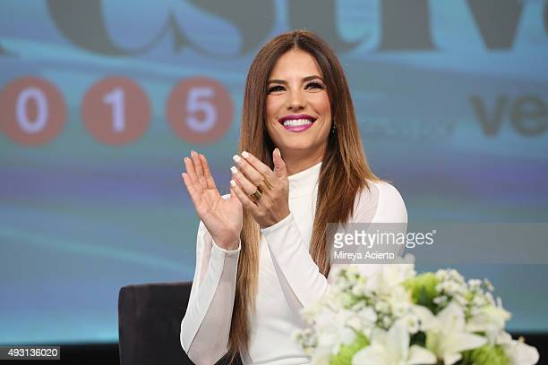 Actress Gaby Espino speaks at the 4th Annual People en Espanol Festival at Jacob Javitz Center on October 17 2015 in New York City