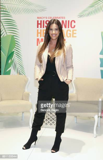 Actress Gaby Espino visits Macy's Herald Square for Hispanic Heritage Month at Macy's Herald Square on September 21 2017 in New York City