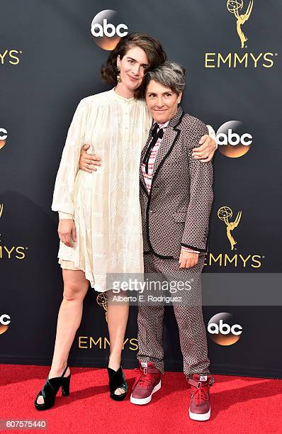 Actress Gaby Hoffmann and writer/director Jill Soloway attend the 68th Annual Primetime Emmy Awards at Microsoft Theater on September 18 2016 in Los...