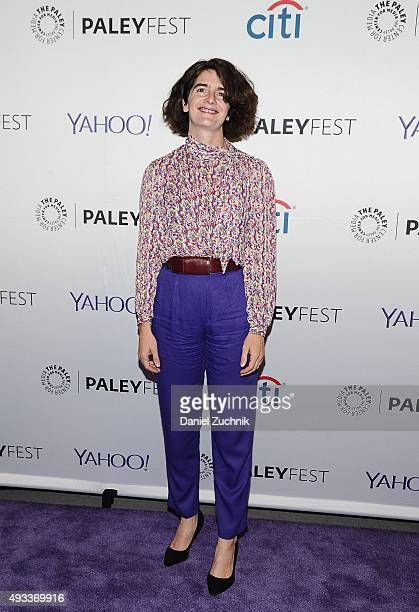Actress Gaby Hoffmann attends PaleyFest New York 2015 'Transparent' at The Paley Center for Media on October 19 2015 in New York City