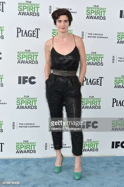 Actress Gaby Hoffmann attends the 2014 Film Independent Spirit Awards at Santa Monica Beach on March 1 2014 in Santa Monica California
