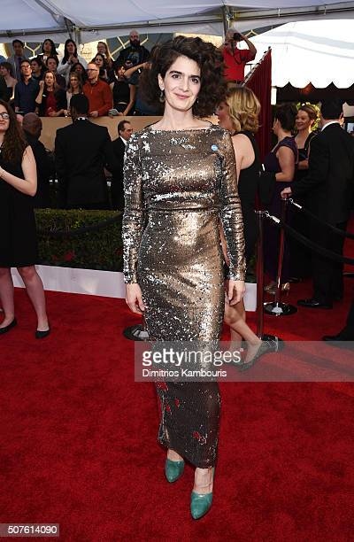Actress Gaby Hoffmann attends The 22nd Annual Screen Actors Guild Awards at The Shrine Auditorium on January 30 2016 in Los Angeles California...