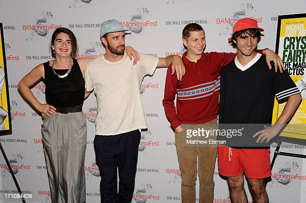 Actress Gaby Hoffmann Director Sebastian Silva Actor Michael Cera and Agustin Silva attend BAMcinemaFest New York 2013 Screening Of 'Crystal Fairy'...