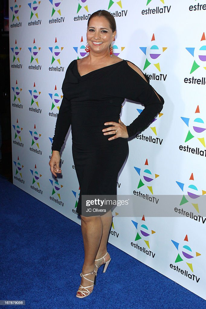 Actress Gaby Rivero attends the launch party for Estrella TV news anchor: Myrka Dellanos at The Conga Room at L.A. Live on May 1, 2013 in Los Angeles, California.