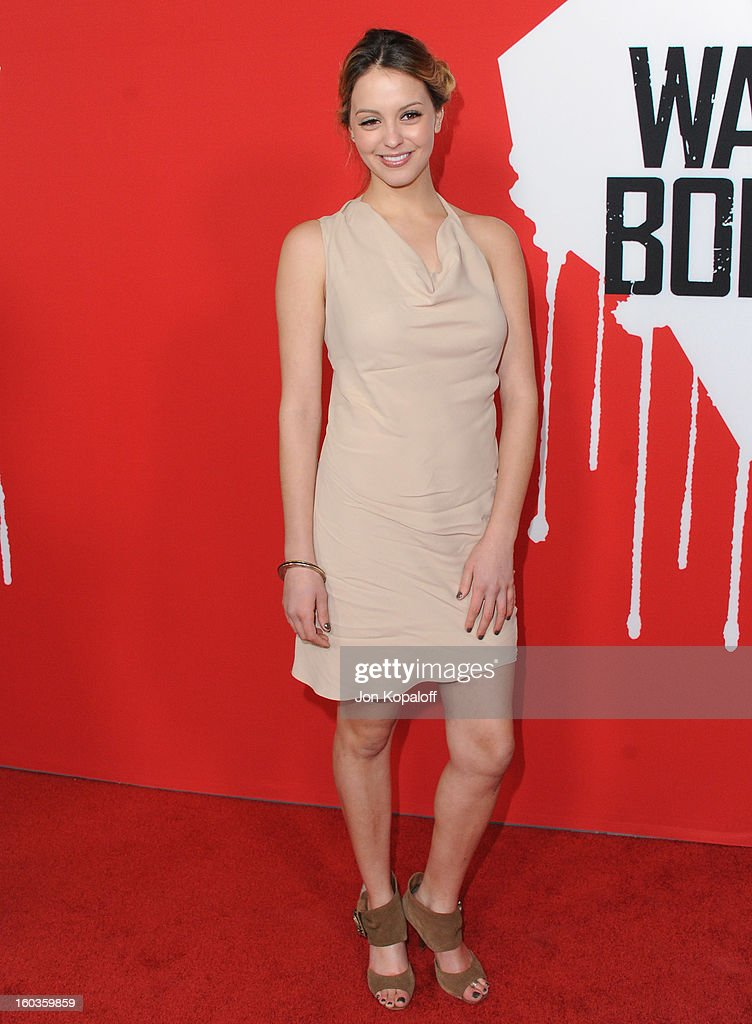 Actress Gage Golightly arrives at the Los Angeles Premiere 'Warm Bodies' at ArcLight Cinemas Cinerama Dome on January 29, 2013 in Hollywood, California.