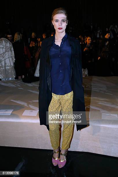 Actress Gaia Weiss attends the HM Studio show as part of the Paris Fashion Week Womenswear Fall/Winter 2016/2017 on March 2 2016 in Paris France