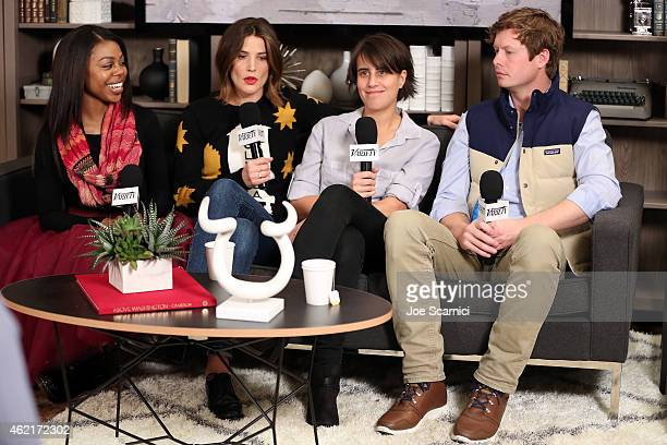 Actress Gail Bean actress Cobie Smulders director Kris Swanberg and actor Anders Holm speak at The Variety Studio At Sundance Presented By Dockers on...
