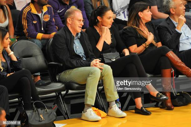 Actress Gal Gadot and director Patty Jenkins attend a basketball game between the Los Angeles Lakers and the Los Angeles Clippers at Staples Center...