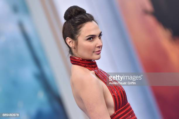 Actress Gal Gadot arrives at the premiere of Warner Bros Pictures' 'Wonder Woman' at the Pantages Theatre on May 25 2017 in Hollywood California
