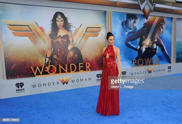 Actress Gal Gadot arrives for the Premiere Of Warner Bros Pictures' 'Wonder Woman' held at the Pantages Theatre on May 25 2017 in Hollywood California