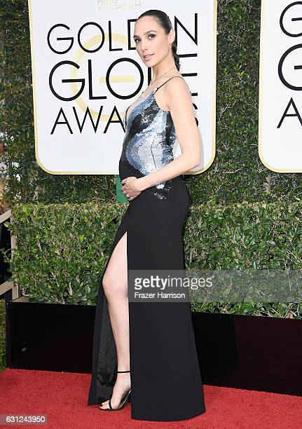 Actress Gal Gadot attends the 74th Annual Golden Globe Awards at The Beverly Hilton Hotel on January 8 2017 in Beverly Hills California
