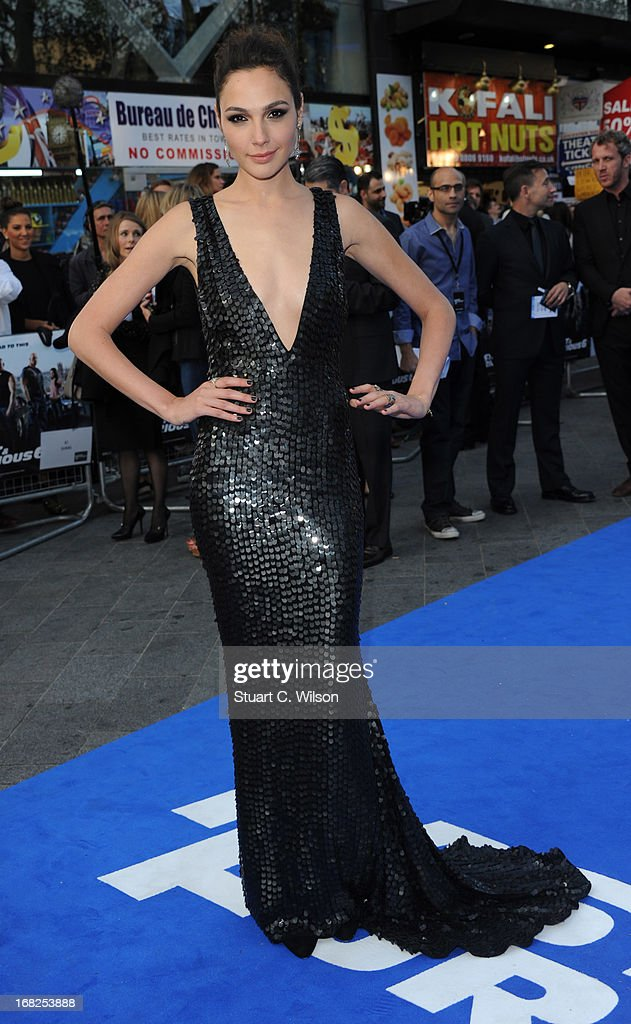 Actress Gal Gadot attends the 'Fast & Furious 6' World Premiere at The Empire, Leicester Square on May 7, 2013 in London, England.