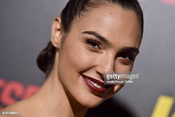 Actress Gal Gadot attends the premiere of 'Keeping Up with the Joneses' at Fox Studios on October 8 2016 in Los Angeles California