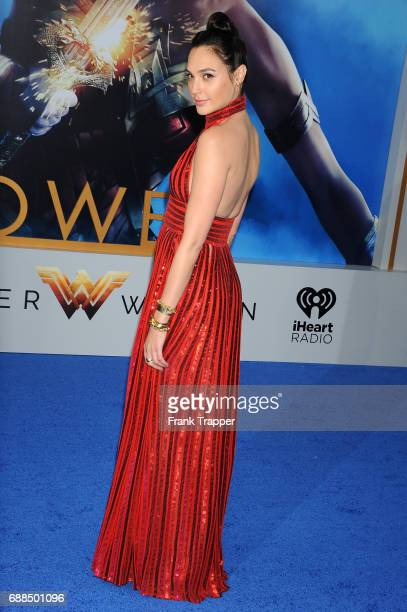 Actress Gal Gadot attends the premiere of Warner Bros Pictures ''Wonder Woman' at the Pantages Theatre on May 25 2017 in Hollywood California