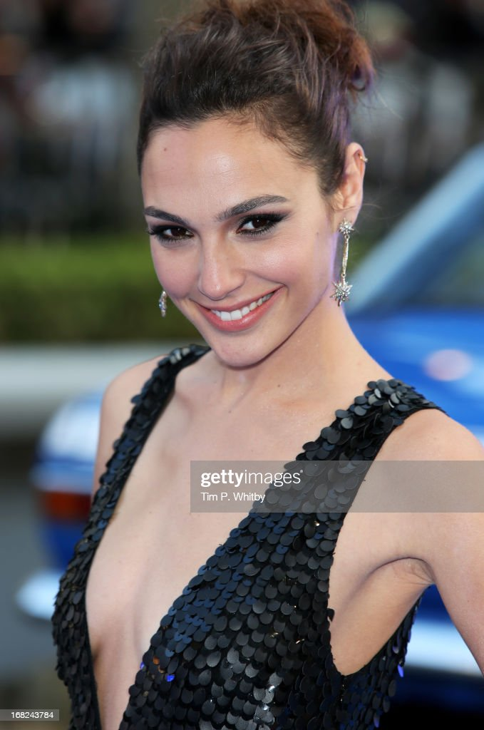 Actress <a gi-track='captionPersonalityLinkClicked' href=/galleries/search?phrase=Gal+Gadot&family=editorial&specificpeople=4350069 ng-click='$event.stopPropagation()'>Gal Gadot</a> attends the World Premiere of 'Fast & Furious 6' at Empire Leicester Square on May 7, 2013 in London, England.
