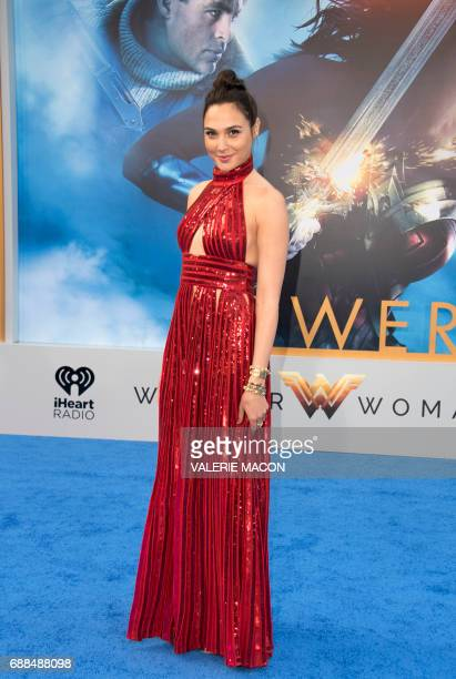 Actress Gal Gadot attends the world premiere of 'Wonder Woman' at the Pantages on May 25 2017 in Hollywood California / AFP PHOTO / VALERIE MACON