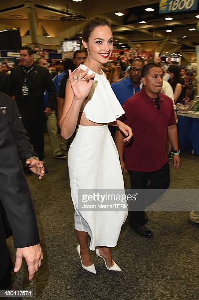 Actress Gal Gadot is seen at ComicCon International 2015 on July 11 2015 in San Diego California