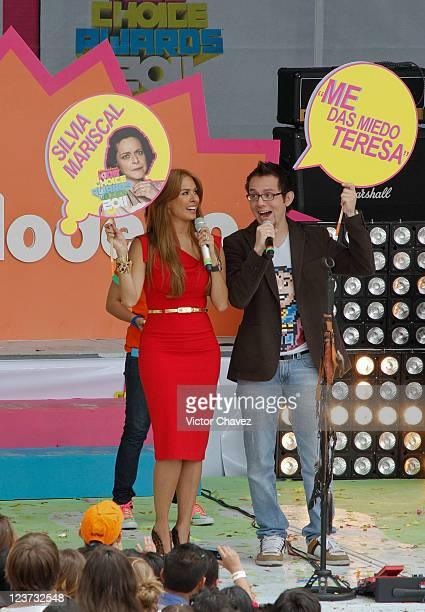 Actress Galilea Montijo and guest attend the 2011 Kids Choice Awards Mexico at Six Flags Mexico on September 3 2011 in Mexico City Mexico