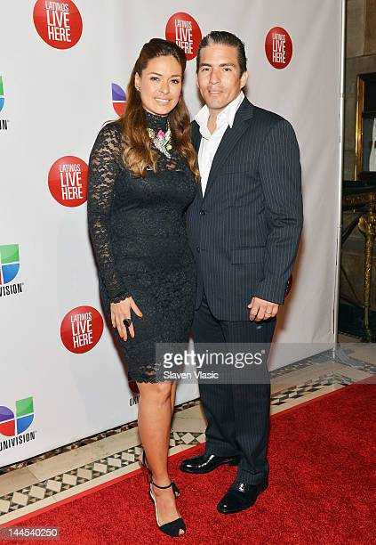 Actress Galilea Montijo and guest attend Univision Upfront 2012 Reception at Cipriani 42nd Street on May 15 2012 in New York City