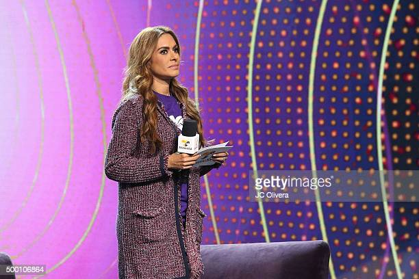Actress Galilea Montijo speaks onstage during The 4th Annual TeletonUSA at Ace Theater Downtown LA on December 5 2015 in Los Angeles California