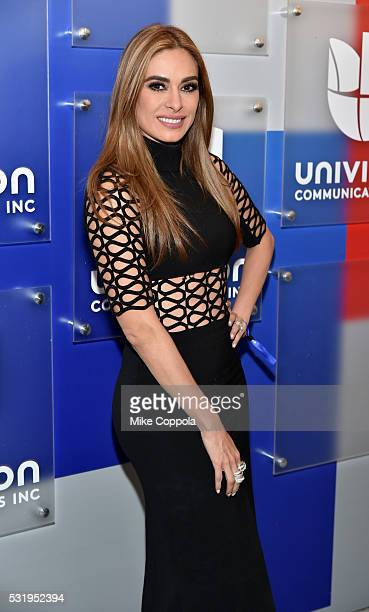 Actress Galilea Montijoattends Univision's 2016 Upfront Red Carpet at Gotham Hall on May 17 2016 in New York City
