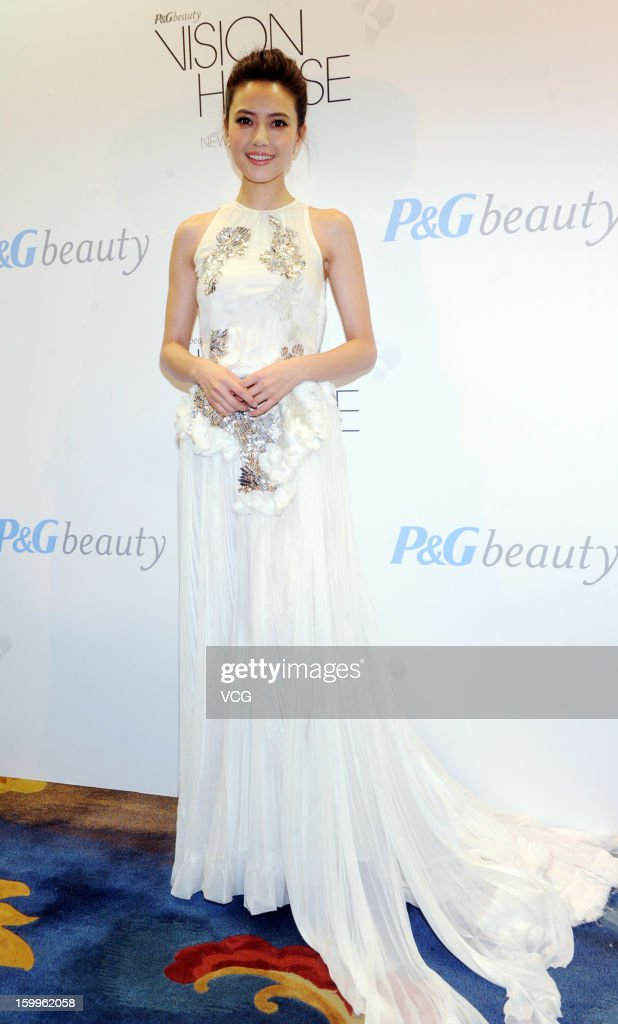 Actress Gao Yuanyuan attends P&G promotional event at China World Trade Center Tower 3 on January 23, 2013 in Beijing, China.