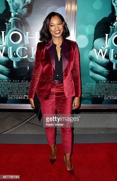 Actress Garcelle Beauvais arrives at a screening of Lionsgate Films' 'John Wick' at the Arclight Theatre on October 22 2014 in Los Angeles California